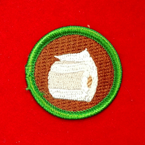 COVID-19 SPOOF MERIT BADGE, TOILET PAPER