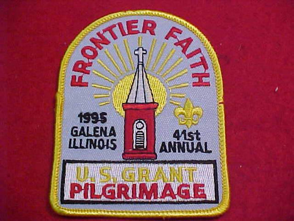 U. S. GRANT PILGRIMAGE PATCH, 1995, 41ST ANNUAL, LT. BLUE TWILL