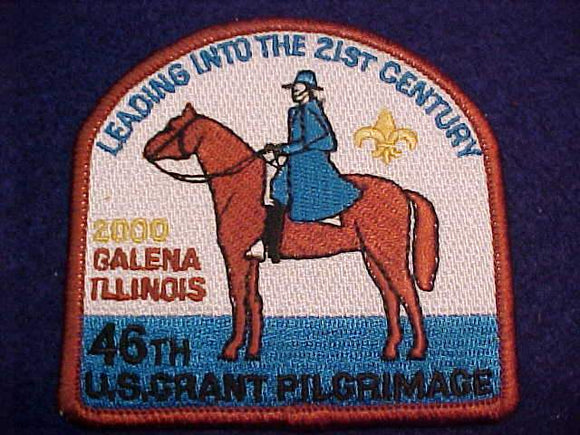 U. S. GRANT PILGRIMAGE PATCH, 2000, 46TH ANNUAL