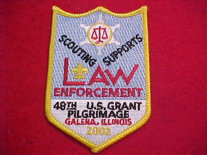 U. S. GRANT PILGRIMAGE PATCH, 2002, 48TH ANNUAL