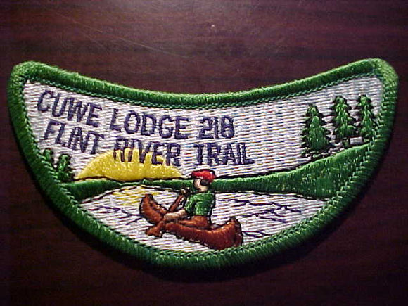 FLINT RIVER TRAIL, CUWE LODGE 218, 1980'S ISSUE, RARE