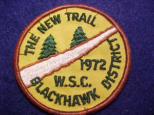 NEW TRAIL, 1972, WEST SUBURBAN COUNCIL