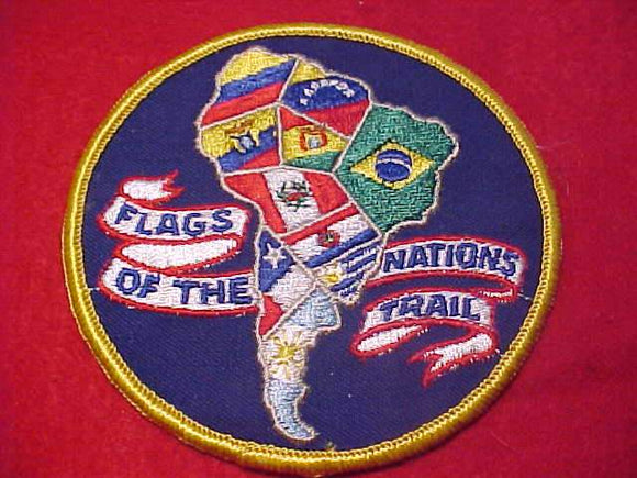 FLAGS OF THE NATIONS TRAIL PATCH, SOUTH AMERICAN DESIGN, 4