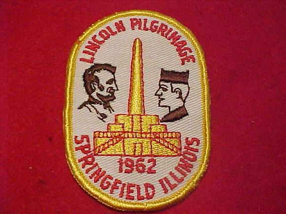 LINCOLN PILGRIMAGE PATCH, 1962, SPRINGFIELD, ILLINOIS