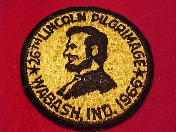 LINCOLN PILGRIMAGE PATCH 1966, WABASH, IND.