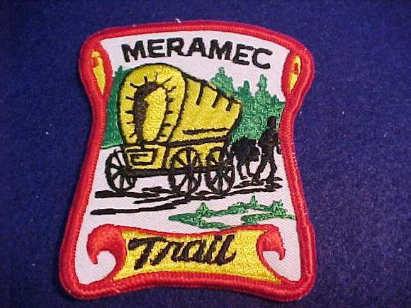MERAMEC TRAIL PATCH, YELLOW WAGON, ROLLED EDGE