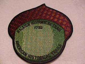 RALEIGH HISTORICAL TRAIL PATCH, AMERICAN HISTORICAL TRAILS, 1792