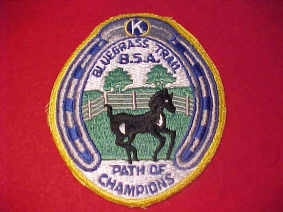 BLUEGRASS TRAIL PATCH, PATH OF CHAMPIONS