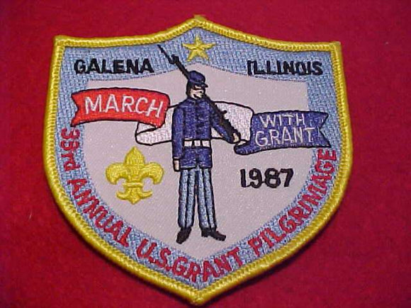 U. S. GRANT PILGRIMAGE PATCH, 1987
