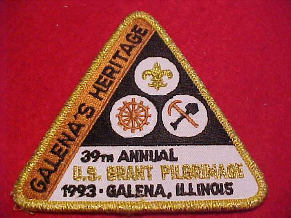 U. S. GRANT PILGRIMAGE PATCH, 1993