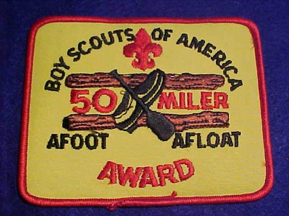 FIFTY (50) MILER AWARD PATCH, EMBROIDERED