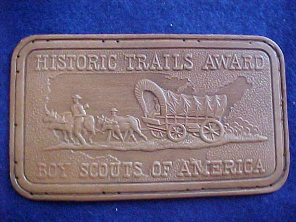 HISTORIC TRAILS AWARD PATCH, LEATHER