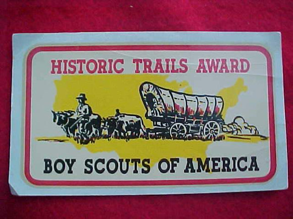 HISTORIC TRAILS DECAL