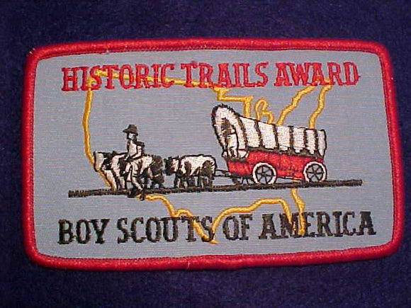 HISTORIC TRAILS AWARD PATCH, EMBROIDERED