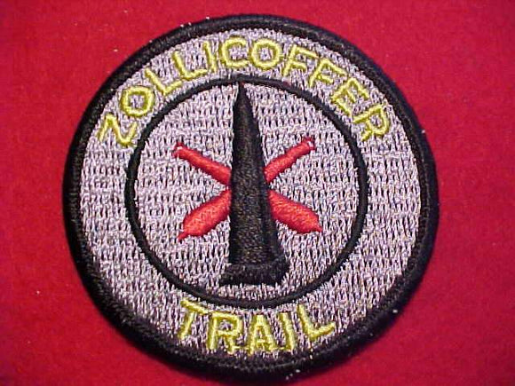 ZOLLICOFFER TRAIL PATCH, VERTICAL STITCH BKGR.