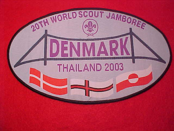 2003 WJ JACKET PATCH, DENMARK CONTIGENT, 127 X 215MM