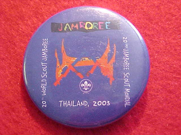 2003 WJ BUTTON, BLUE BKGR., PIN BACK