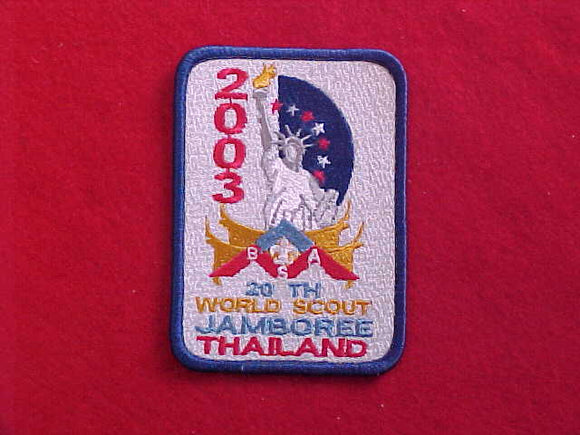 2003 WJ BSA/ USA CONTINGENT, DARK BLUE BORDER, NATL CONTINGENT STAFF, RARE