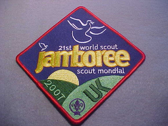 2007 WJ JACKET PATCH, U. K., 118 X 118MM
