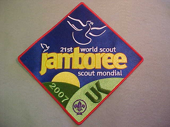 2007 WJ JACKET PATCH, SOLD AT TRADING POST, 170 X 170MM