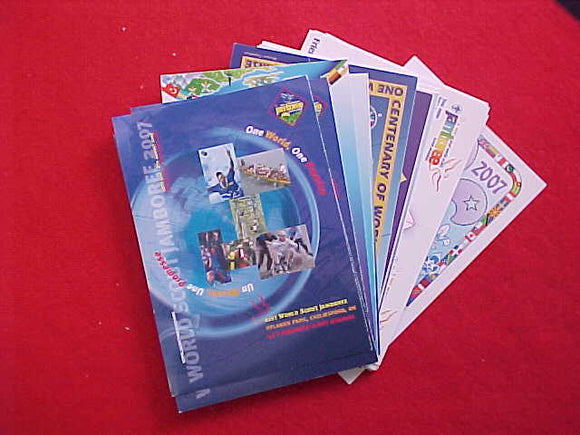 2007 WJ JAMBOREE/CENTENNIAL OF SCOUTING POSTCARDS, 24 TOTAL