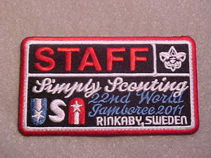 2011 WJ PATCH, BSA STAFF