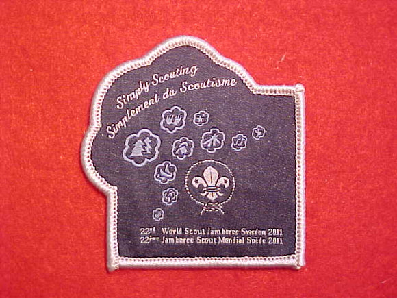 2011 WJ PATCH, OFFICIAL. ISSUED 2 PER PARTICIPANT