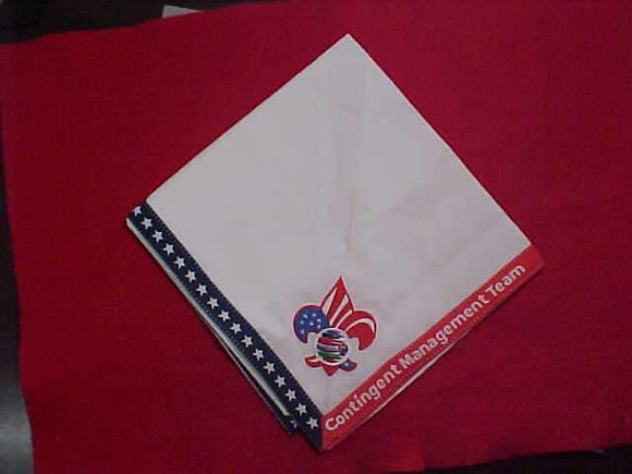 2019 WJ NECKERCHIEF, CONTINGENT MANAGEMENT TEAM, OFFICIAL, RARE