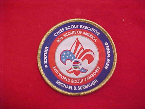 2019 WJ PATCH, BSA CHIEF SCOUT EXECUTIVE MICHAEL SURBAUGH