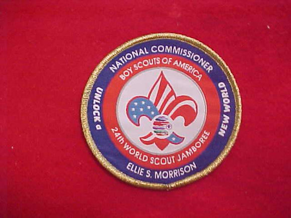 2019 WJ PATCH, BSA NATIONAL COMMISSIONER ELLIE MORRISON