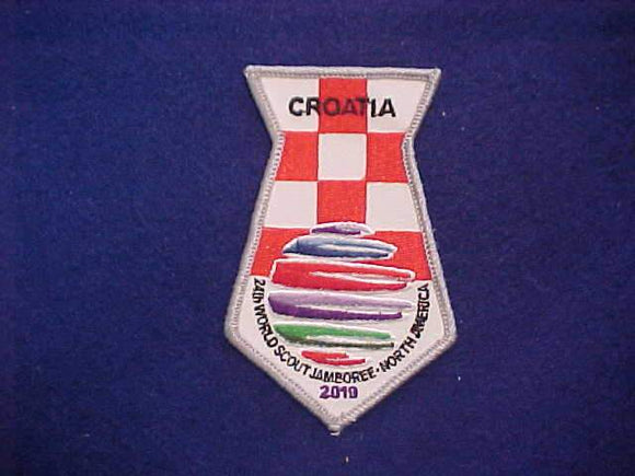 2019 WJ PATCH, CROATIA CONTINGENT, GRAY BORDER