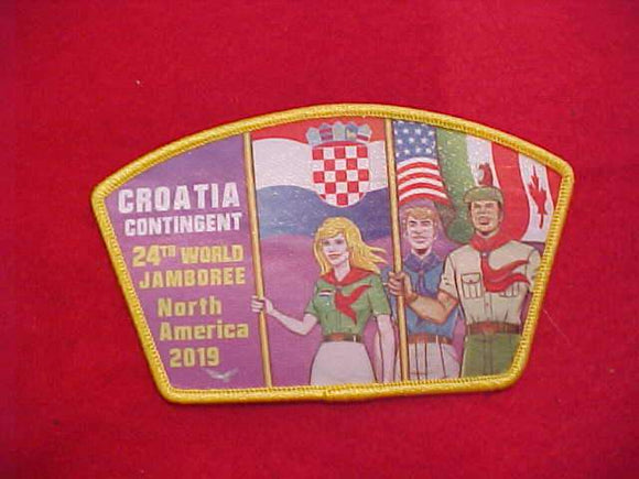 2019 WJ SHOULDER PATCH(JSP), CROATIA CONTINGENT