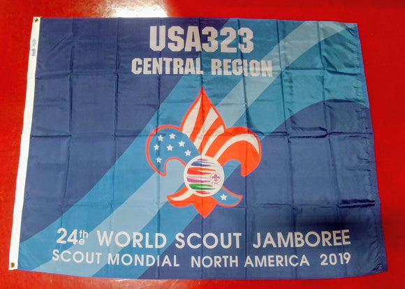 2019 WJ TROOP FLAG, USA TROOP 323, 48X68