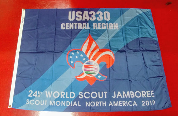2019 WJ TROOP FLAG, USA TROOP 330, 48X68