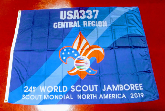 2019 WJ TROOP FLAG, USA TROOP 337, 48X68