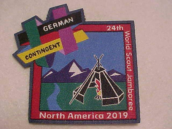 2019 WJ PATCH, GERMAN CONTIGENT