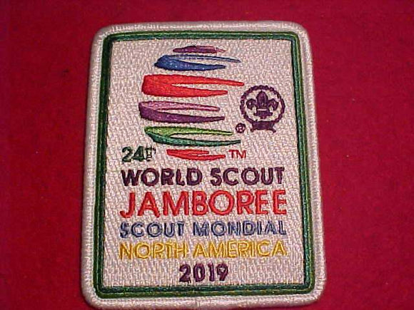 2019 WJ PATCH, RECTANGLE, WHITE BDR.