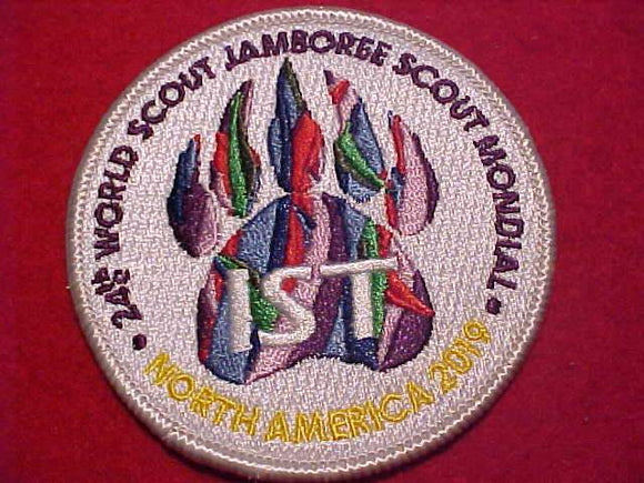 2019 WJ PATCH, INTERNATIONAL SERVICE TEAM, OFFICIAL ISSUE