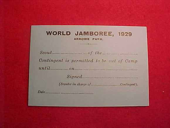 1929 WJ OUT OF CAMP PASS,3