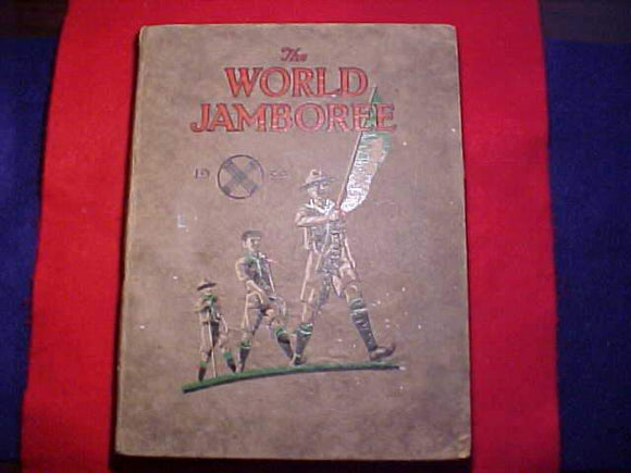 1929 WJ BOOK, THE WORLD JAMBOREE - THE QUEST OF THE GOLDEN ARROW, 152 PAGES, VG CONDITION, LOTS OF DETAIL & PICS OF THE JAMBO INCLUDING PHOTOS OF BADEN-POWELL