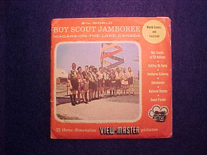 1955 WJ VIEW-MASTER SET OF 3 DISCS, TOTAL OF 21 PICTURES, ORIGINAL ENVELOPE AND SLEEVES, VG CONDITION