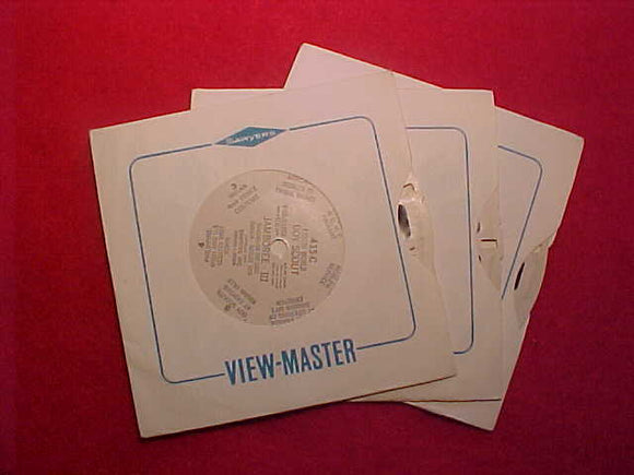 1955 WJ VIEW-MASTER SET OF 3 DISCS, 21 TOTAL PICS