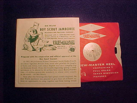 1955 WJ VIEW-MASTER SET OF 3 DISCS IN 1 SLEEVE WITH DISCRIPTION BROCHURE