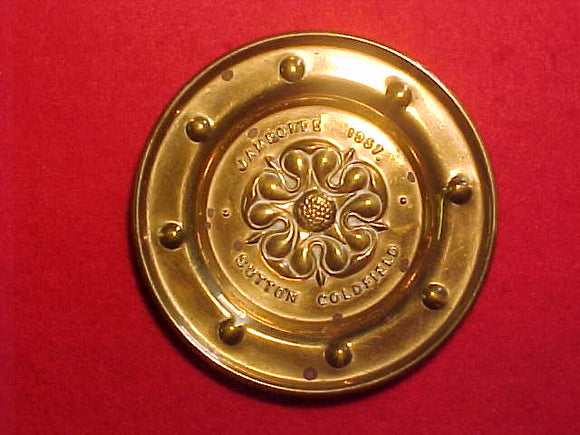 1957 WJ PIN TRAY, BRASS, 92 MM DIAMETER