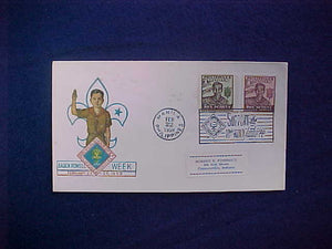 1959 WJ CACHET, PHILIPPINES BADEN-POWELL WEEK, 1948 PHILIPPINES BOY SCOUT SILVER JUBILEE STAMPS 2 AND 4 CENTAVOS