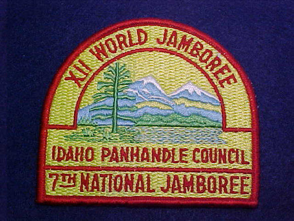 1967 WJ PATCH, BSA IDAHO PANHANDLE COUNCIL CONTINGENT