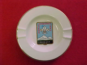 "1967 WJ ASHTRAY, CERAMIC, 5.25"" DIAMETER"