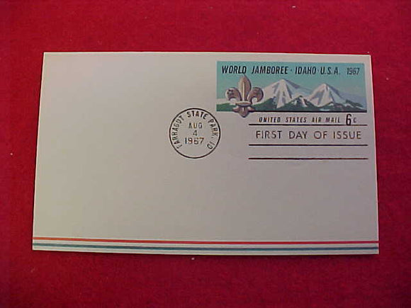 1967 WJ POSTCARD, USA 6 CENTS, 1ST DAY OF ISSUE CANCELLATION