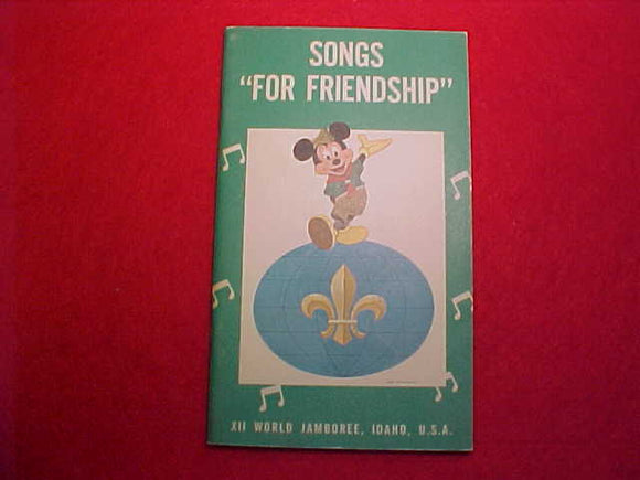 1967 WJ SONGBOOK, MICKEY MOUSE COVER, 32 PAGES