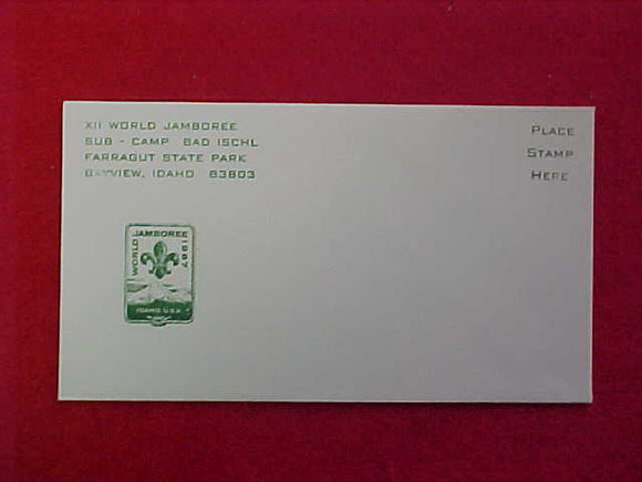 1967 WJ ENVELOPE, BAD ISCHL SUBCAMP, 3.5